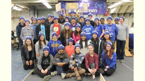 Team 4330 at the 2016 Iowa Regional group photo.
