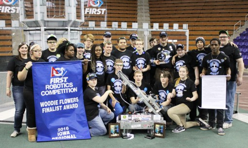 Team 5837 at 2016 Iowa Regional, group picture.