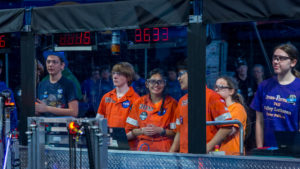 Drive team preparing for the match to begin.