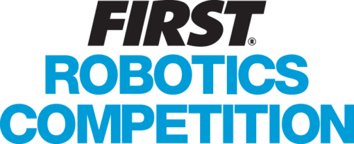 FIRST Robotics Competition  Typography without FIRST Logo, text in blue.